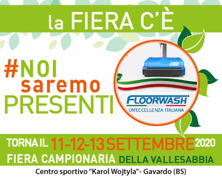 Floorwash alla 64esima edizione della Fiera di Gavardo (BS)