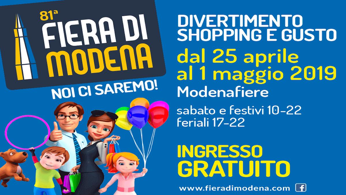 Da giovedì 25 Aprile a mercoledì 1° Maggio si aprirà di nuovo il sipario sulla Fiera di Modena