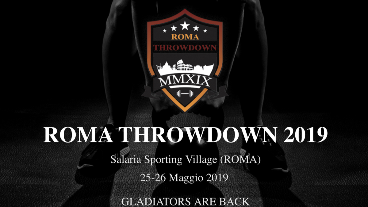 LAVAPAVIMENTI PER PAVIMENTI IN CROSSFIT: ROMA THROW DOWN 2019
